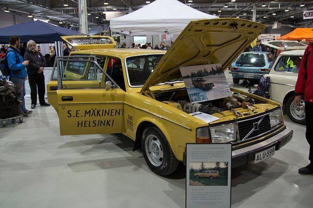Miljoona-Volvo on käynyt esittäytymässä Classic Motor Show´ssa Lahdessa.