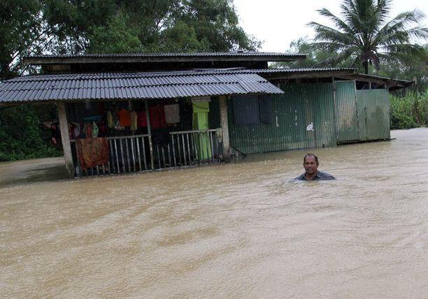 Tulvavedet täyttivät kadut Pattanin provinssissa 29. marraskuuta.