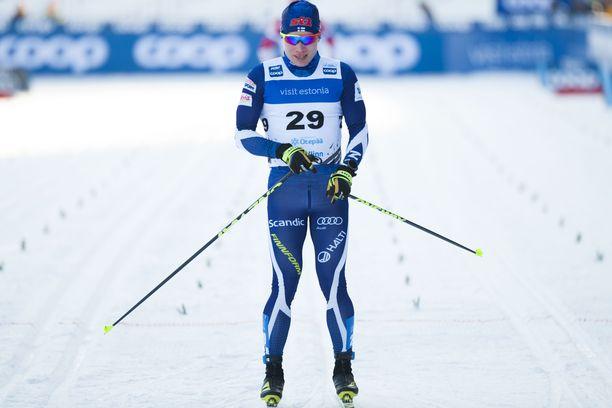 Lauri Vuorisella oli onnea matkassa Otepään hiihdoissa.
