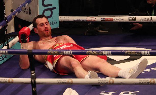 David Pricen taistelu päättyi rumalla tavalla.