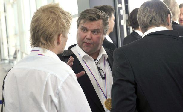 Timo Jutila vuoden 2011 MM-kultatunnelmissa.
