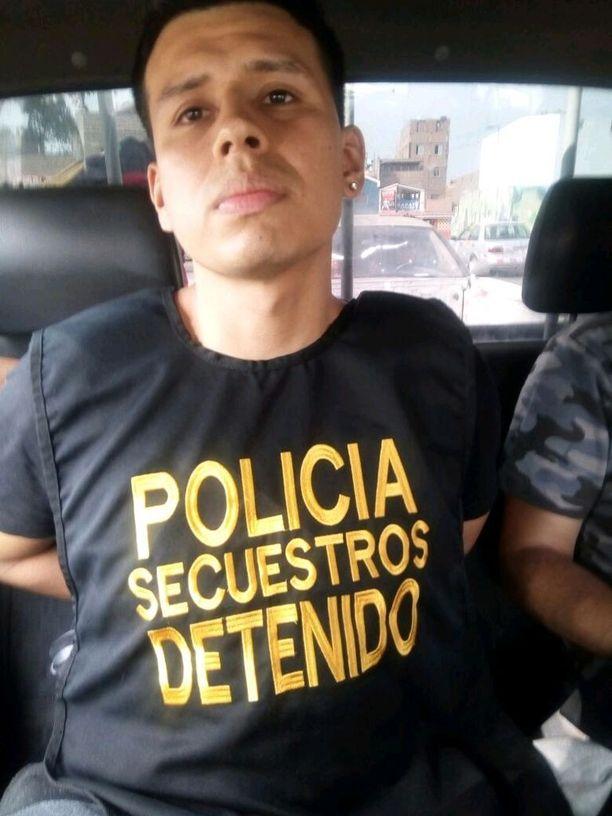 Alexander Delgado jäi kiinni maanantaina. Hänen kiinnijäämiseensä johtavista vihjeistä oli luvattu 20 000 solin (noin 5 000 euron) palkkio.