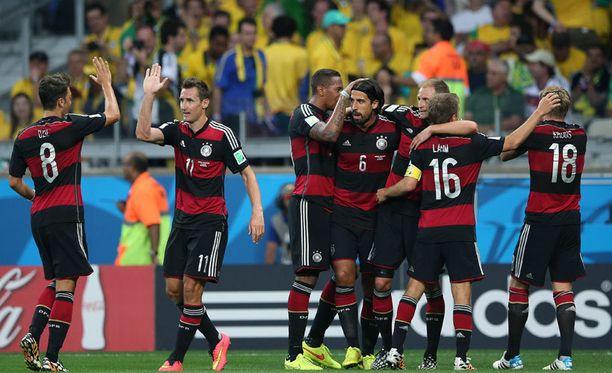 Saksa murjoo Brasiliaa Estadio Mineraolla.