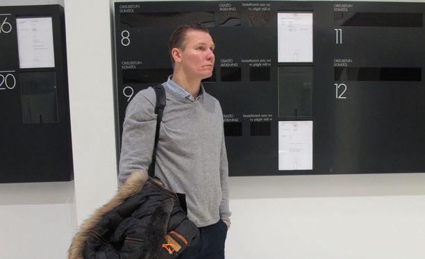 Jani Hurme tuomittiin törkeästä veropetoksesta. Kuva otettu 28. tammikuuta Varsinais-Suomen käräjäoikeudesta.