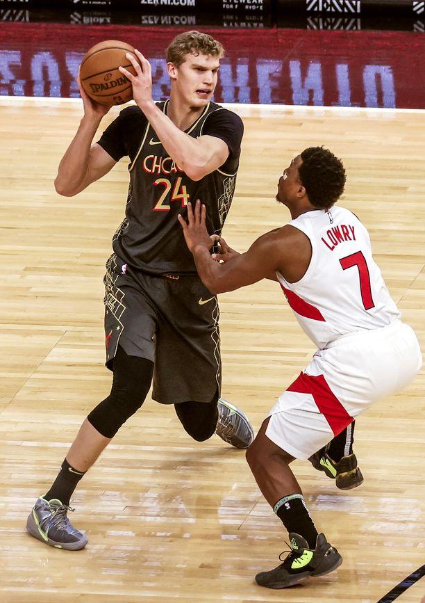Lauri Markkasen Chicago on kahden ottelun voittoputkessa. Kuva edellisestä ottelusta Toronto Raptorsia vastaan.