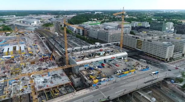 Tältä näytti Triplan rakennustyömaalla heinäkuussa 2017.