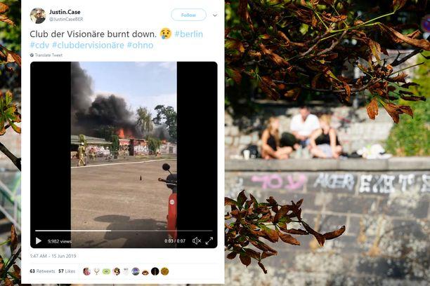 Kreuzbergissä sijaitsevalla klubilla sattui viikonloppuna raju tulipalo.