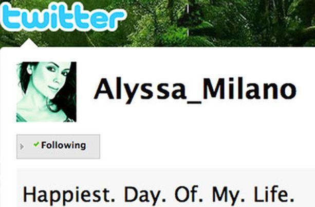 Alyssa hehkutti onneaan myös Twitterissä.