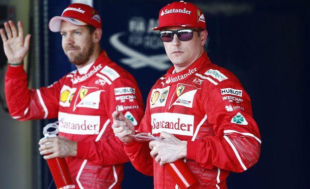 Kimi Räikkönen ja Sebastian Vettel tähdittivät Ferrarin videota, jonka toteutus ei häikäise.