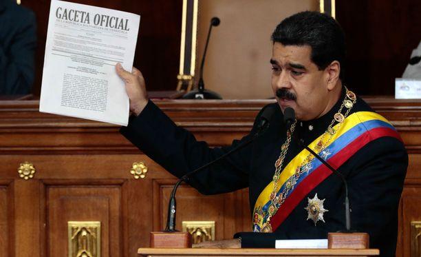 Kuvassa presidentti Nicolas Maduro, joka on esittänyt toiveen tavata Trump.