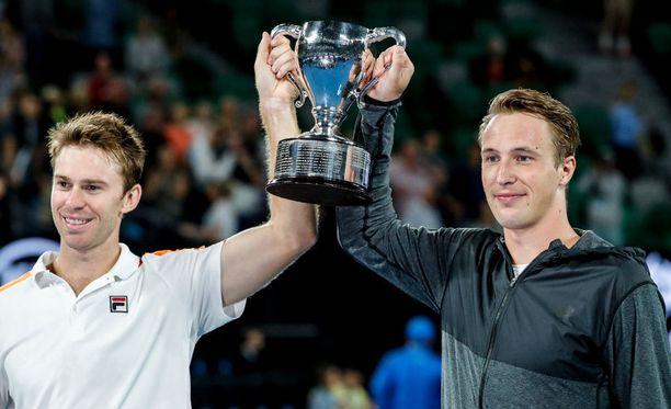 Henri Kontisen (oik.) ja John Peersin menestys on nostanut miehet maailmanlistan kärkisijoille.