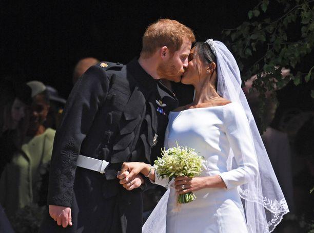 Prinssi Harry ja Sussexin herttuatar Meghan avioituivat Windsorissa keväällä 2018.