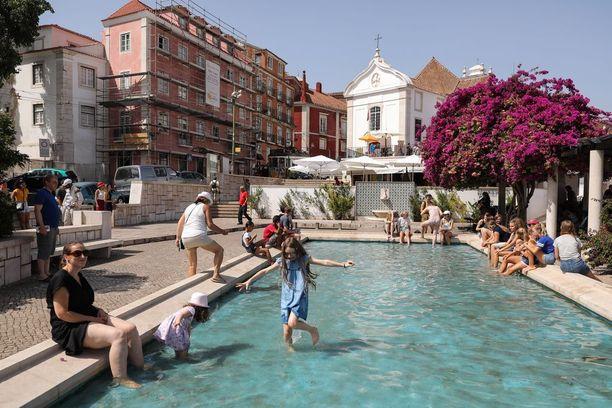 Tämä allas Lissabonissa saattaa olla viikonloppuna täynnä, jos lämpötila kohoaa 50 asteeseen.