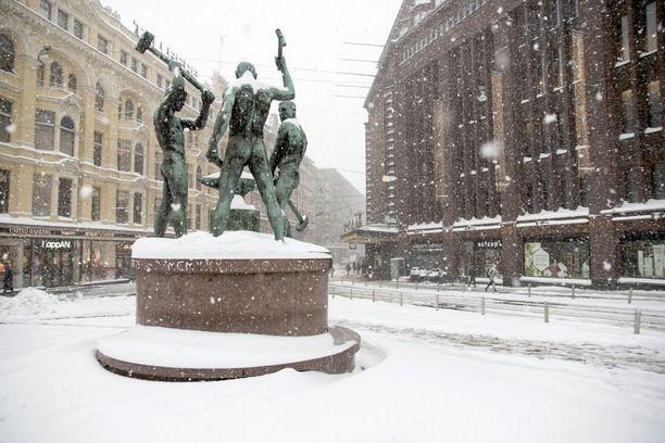 Heti alkuvuodesta Etelä-Suomeenkin on luvassa hieman lunta. Kuva tammikuulta 2016.