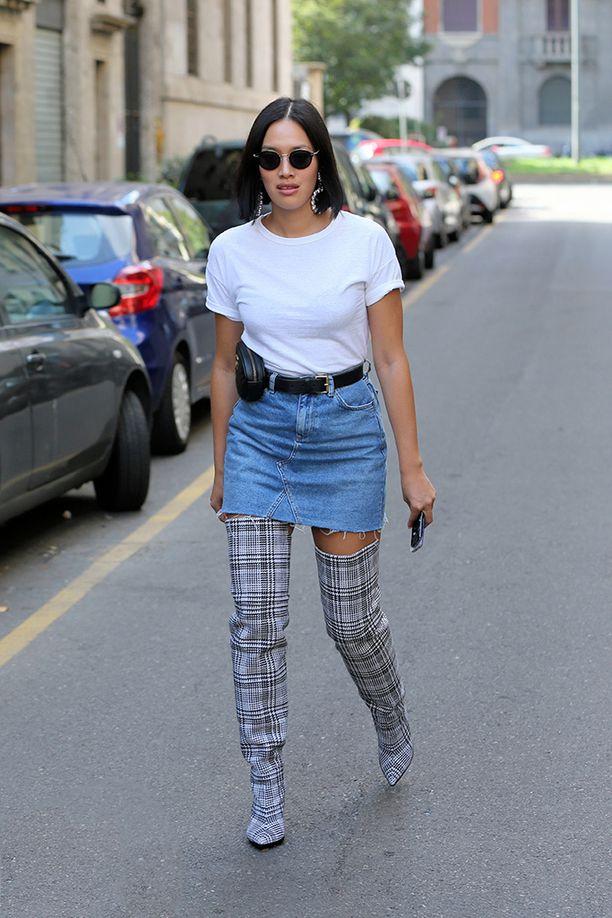 Trendikkäistä trendikkäin ruutukuosi näkyy myös kengissä.