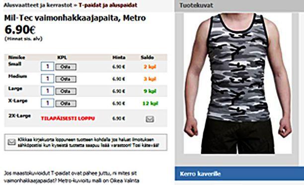 Kuva on kaappaus nettikaupan verkkosivuilta.