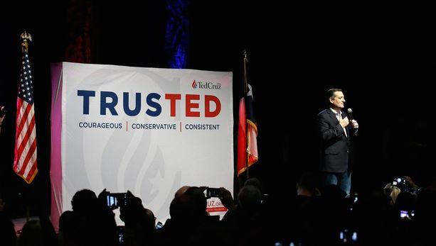 Äärikonservatiivinen Ted Cruz on toistaiseksi pystynyt olemaan esivaaleissa paras haastaja Donald Trumpille.