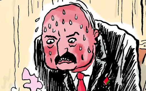 Ville Rannan pilapiirros: Ei kai Lukašenka usko lännen propagandaa...?