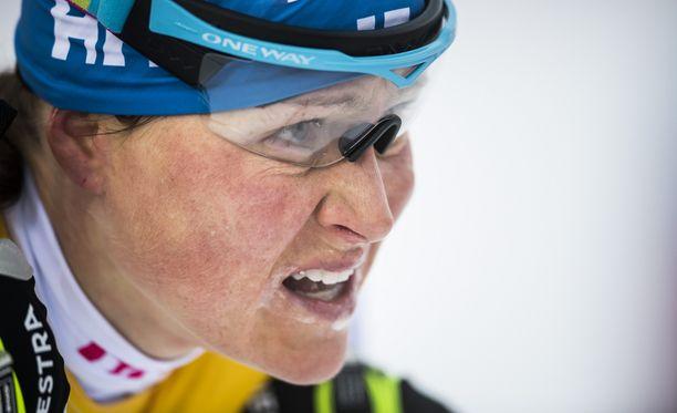 Aino-Kaisa Saarinen puristi kolmanneksi SM-kympillä.