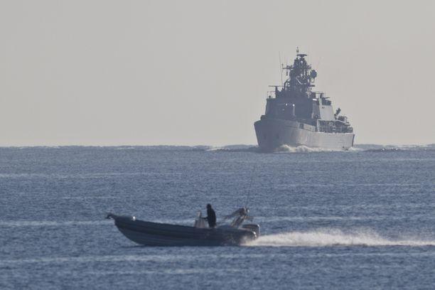 Miinalaiva Pohjanmaa. Atalanta-operaatio. Kuva Puolustusvoimat