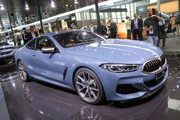 Kaunottaren kaarteet. Yksi näyttelyn kauneimmista autoista. Tämän yksilön väristä tosin voi olla montaa mieltä.