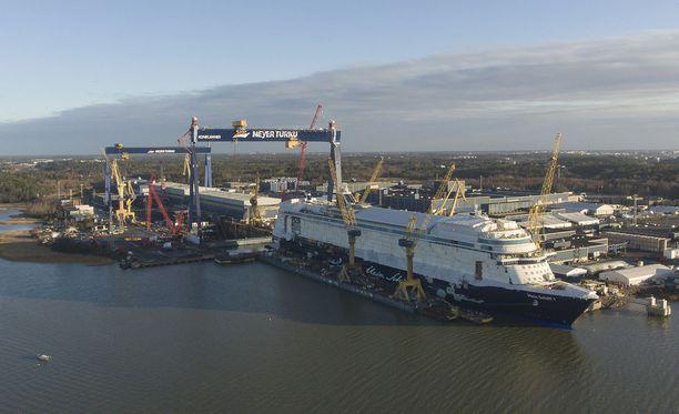 Turussa on rakennettu jo useita risteilijöitä TUI-konsernille.