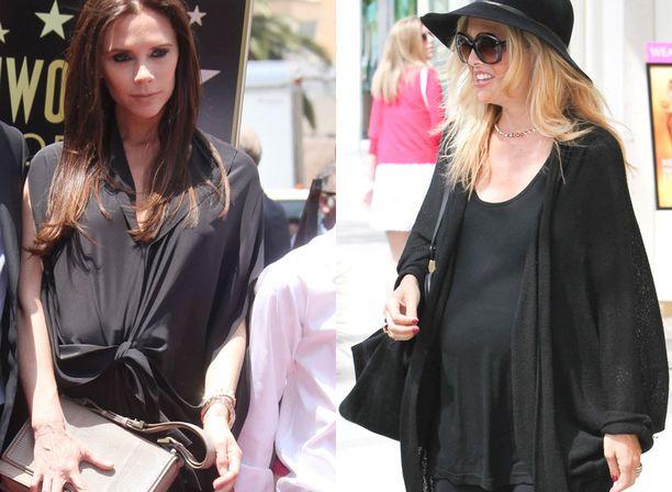Victoria Beckham synnyttää keisarileikkauksella heinäkuun alussa. Rachel Zoe synnytti maaliskuussa. Kuvassa Zoe oli viimeisillään raskaana.