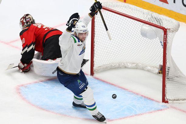 Teemu Hartikainen on KHL:n parhaiten palkattu suomalainen 1,15 miljoonan euron vuosiansioillaan.
