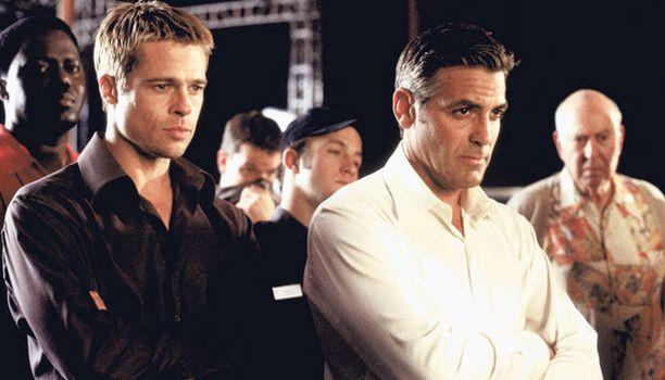 OCEANŽS ELEVEN Brad Pitt ja George Clooney esittävät rosmoja.