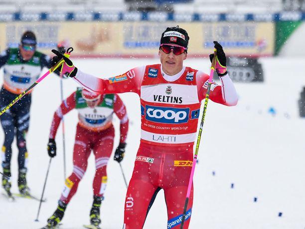 Johannes Hösflot Kläbo on tottunut tuulettamaan viime vuosina.