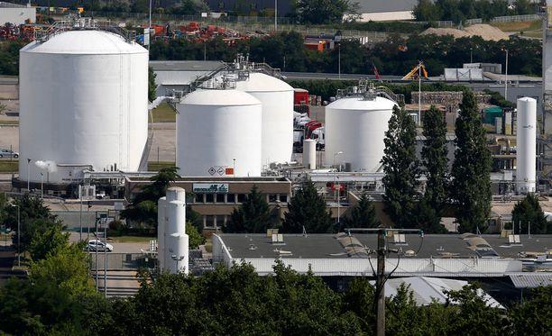 Air Productsin tehdas Saint-Quentin-Fallavierissa, missä terrori-isku tapahtui.