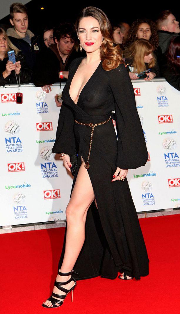 Kelly Brook National Television Awards -gaalassa Lontoossa tammikuussa.