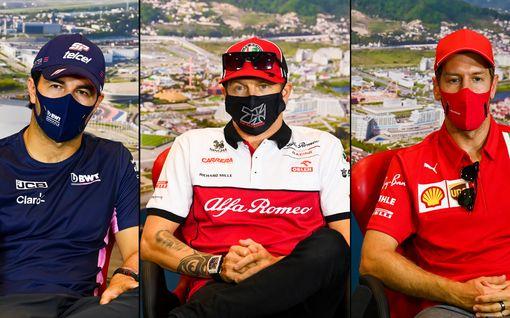 Sergio Perez koki Kimi Räikkösen ja Sebastian Vettelin kohtalon – lataa kovaa tekstiä tallistaan