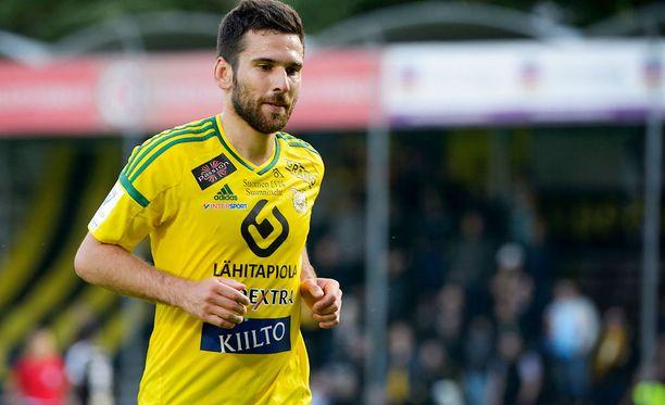 Tomi Petrescu iski voittomaalin HJK:n verkkoon.