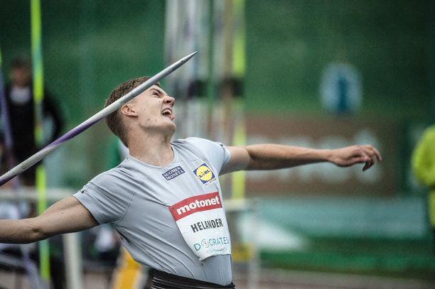 Oliver Helanderilla on hihassa 88–90 metrin heitto, mutta realisoituuko potentiaali kilpailutilanteessa?