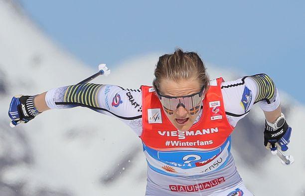 Stina Nilsson kehittää tarmokkaasti ammuntaansa.