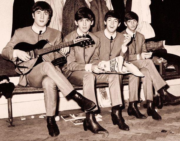 The Beatles pitää odotetusti kärkipaikkaa. Kuvassa Vasemmalta John Lennon, George Harrison, Paul McCartney ja Ringo Starr.