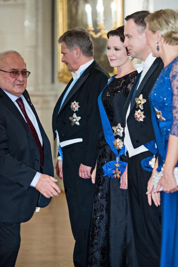 Edellisen kerran Jenni Haukio kuvattiin iltapuvussa kuukausi sitten Puolan presidentin Andrzei Dudan valtiovierailulla.