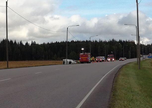 Onnettomuus tapahtui Ysitiellä.
