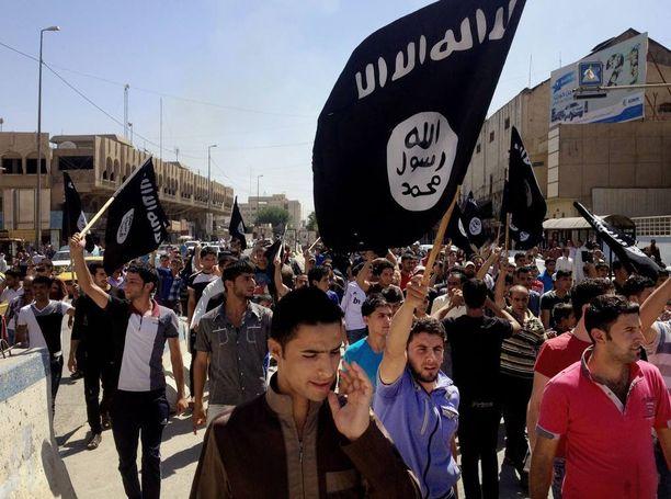 Isisin kannattajia Mosulissa Irakissa kesäkuussa 2014.