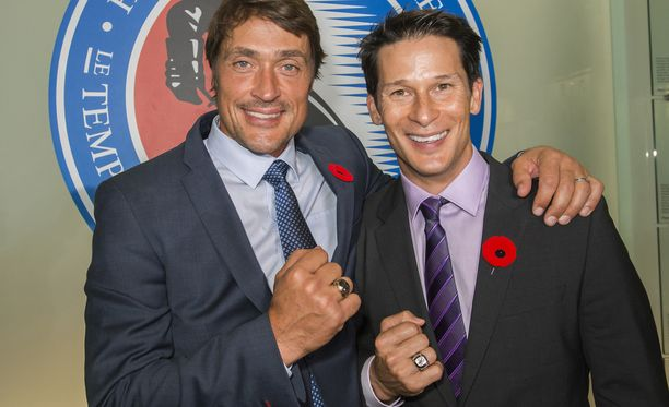 Teemu Selänne ja Paul Kariya aateloitiin Hockey Hall of Fameen viime marraskuussa.