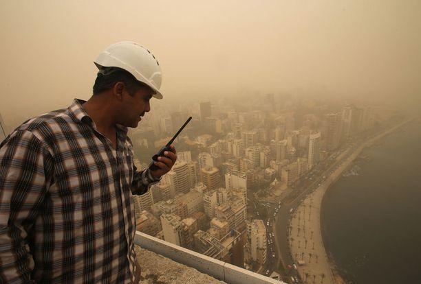 Näkyvys Beirutissa oli vain muutamia satoja metrejä.