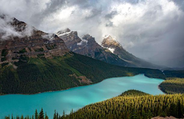 Albertan provinssissa sijaitseville jäätiköille järjestetään turistiretkiä.