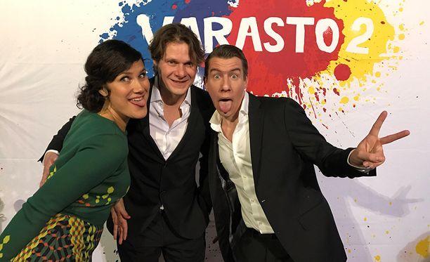 Minttu Mustakallio, Kari-Pekka Toivonen ja Aku Hirviniemi nähdään Varasto 2 -elokuvassa.