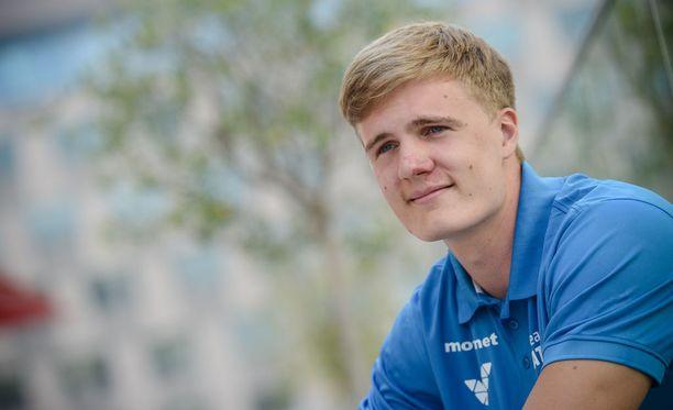 Oliver Helander on Euroopan tilastossa tämän kauden kuudes.
