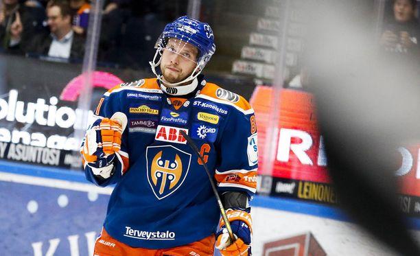 Jukka Peltola on tehnyt tällä kaudella seitsemän maalia.